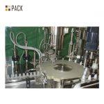 Línea de llenado de botellas de productos químicos / línea de máquina de llenado de detergente espumante con máquina de llenado servo