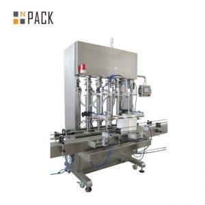 Máquina de llenado de pasta automática de 6 cabezas 500ml-5L con sistema servo para crema con control PLC de transportador