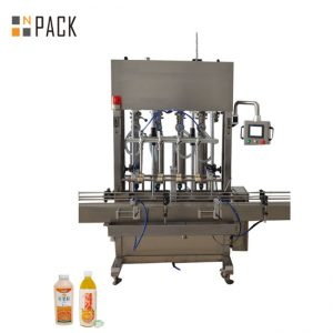 Amplia gama de llenado de la máquina de llenado de pasta de 10 cabezales para fluidos de baja / alta viscosidad