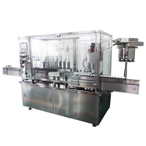 Máquina de rellenar y capsular automática del jarabe de 8 cabezas para la cadena de producción farmacéutica