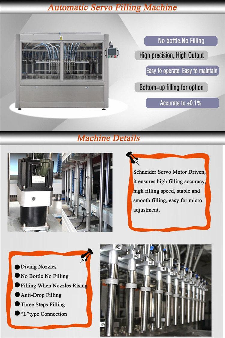 Máquina automática de llenado de líquidos de 2 a 24 cabezales con botella de tomate y pasta de tomate
