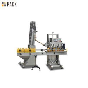 Máquina que capsula de la lata plástica neumática con el tipo linear estructura
