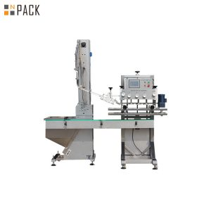 Máquina rotativa para taponar botellas de champú