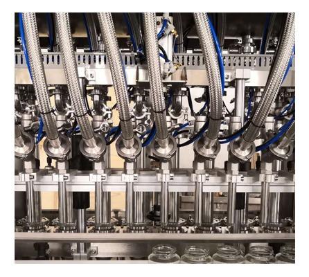 Línea de llenado de líquido automático resistente a la corrosión Máquina de llenado de detergente para ropa