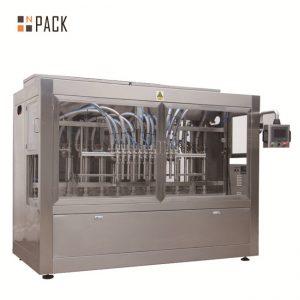Máquina de llenado servo de pistón / máquina de llenado lineal completamente automática con sistema desplegable