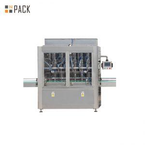 Máquina de tapado de llenado de botellas de líquido electrónico de 10 ml-100 ml y línea de embalaje de etiquetado con bomba de pistón