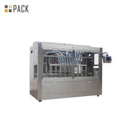 Máquina automática de llenado de líquidos lineal de 16 boquillas, máquina de llenado de botellas de plástico