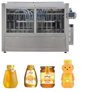 PLC Control Honey Jar Línea de llenado Línea automática de llenado de líquidos Estándar GMP