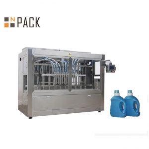 Máquina automática de llenado de detergente líquido, línea de llenado de jabón líquido con relleno de pistón