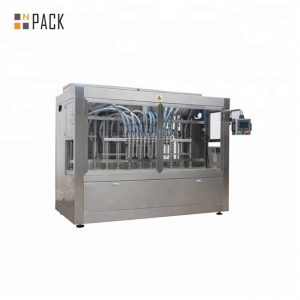 Máquina de llenado de detergente líquido para lavado a prueba de goteo 0.5-5L 12 boquillas 3000 B / H