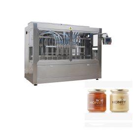 PLC Control 8 Boquillas Máquina de llenado de pasta, 400G Glass Jam Jar Máquina de llenado