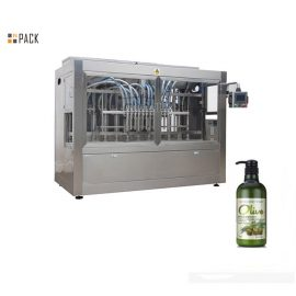 El PLC en línea 8 dirige la máquina de rellenar del ungüento para el champú / el gel de ducha / el suavizador de la tela