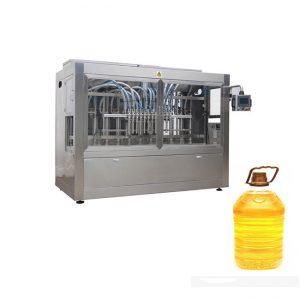 Línea de llenado de líquido automático industrial con máquina de llenado de pistón y etiquetadora automática de botellas