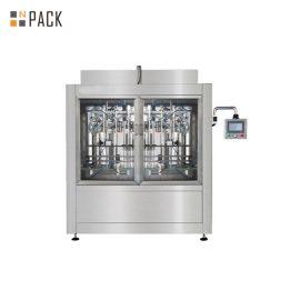Máquina de rellenar líquida automática de 4 cabezas / máquina de rellenar del aceite del lubricante para el envase del volumen grande