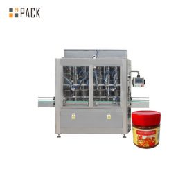 Máquina de llenado de salsa resistente a la abrasión Máquina de llenado de mermelada Acero inoxidable 304