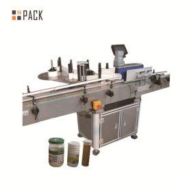 Capacidad cosmética de la máquina de etiquetado de la botella redonda 100 BPM con control de la pantalla táctil