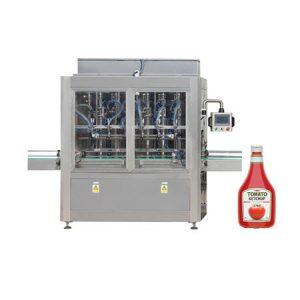 Máquina de llenado de salsa de tomate y aceite de oliva con pistón