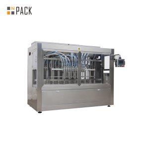 Máquina automática de embotellado de líquido de aceite de crema cosmética de 6 cabezas de botella de vidrio