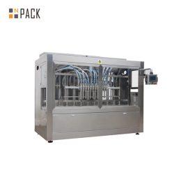 Máquina automática de llenado de botellas de líquido con línea de producción de etiquetado de tapado
