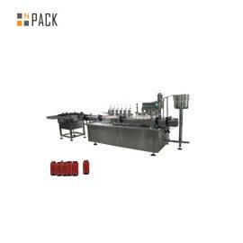 Máquina de llenado de pasta de control de servomotor, máquina de llenado de crema cosmética de tarro 5g-100g
