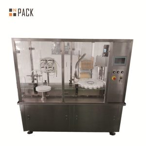 Máquina automática de llenado de botellas de vial lineal con llenado de bomba peristáltica