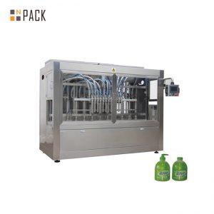 Línea lineal de llenado de botellas de PET para lavavajillas de 1L con máquina de descifrado de botellas