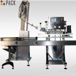 Máquina de tapado de botellas rotativas de alta velocidad para botellas de pesticidas 50ml-1L 120 CPM