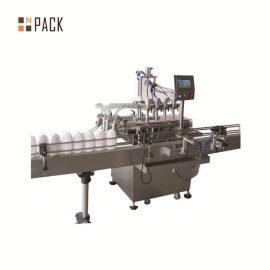 Línea de envasado de enjuague bucal con descifrado de botellas, máquina de llenado, máquina de etiquetado