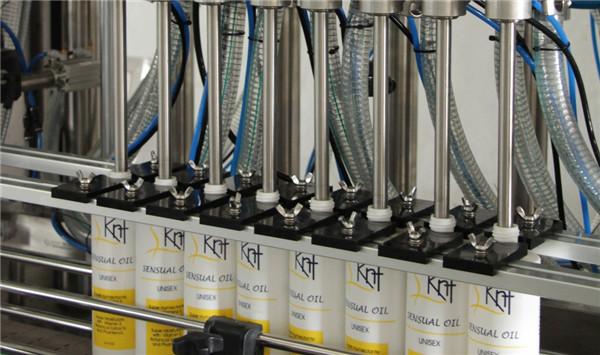 Línea de llenado de crema cosmética completamente automática / máquina de llenado de gel